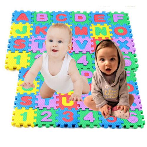 36 pcs Baby Kids Alphanumeric Educational Puzzle Blocks Infant Child Toy Gift RF