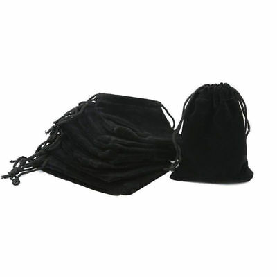 50pcs Wholesale - Black Velvet Cloth Jewelry Pouches Drawstring Bags 7x9cm