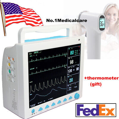 Fda Contec Patient Monitor 6-parameter Icu Vital Signs Cms8000thermometer Usa
