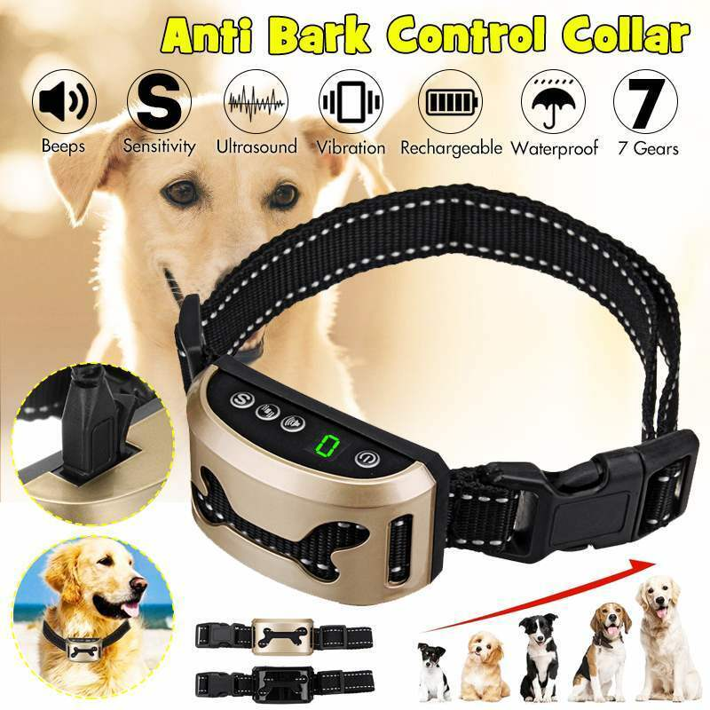 Neuste Anti-Bell Halsband für Hunde Ohne Schock Spray Vibrationshundehalsband