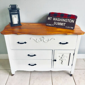 Early Century Antique French Farmhouse Washstand