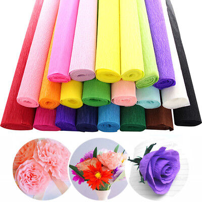 8FT Crepe Paper Streamer Roll Wedding Birthday Party Supplies Handmade Decor - Crepe Paper Rolls