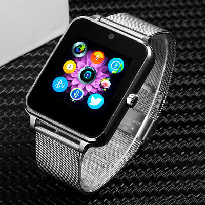 2019 New Bluetooth Smart Watch Stainless For Android iOS iPhone Apple GSM GPRS