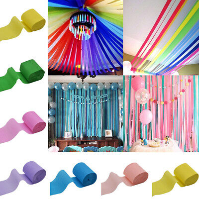 9M Crepe Paper Streamer Roll Wedding Birthday Party Supplies Hanging Home Decor - Crepe Paper Decorations