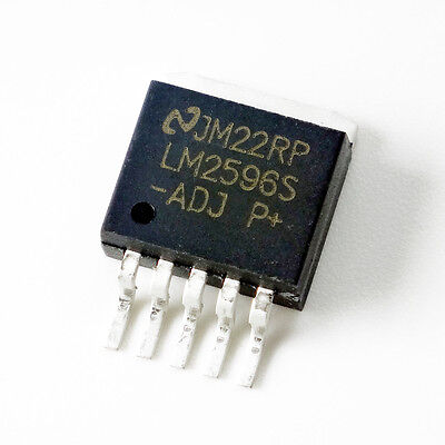 10pcs Nsc Lm2596s-adj Lm2596 To-263 Voltage Regulator Ic New