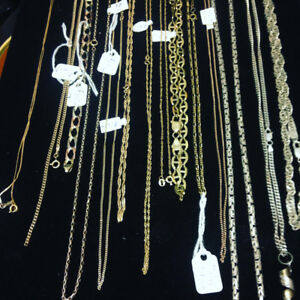 Gold Necklaces 10k 14k 18k $100+up at Great Pacific Pawnbrokers