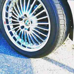 Bmw rims staggered  look 2inch lip
