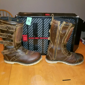 ICON Elisinore Brown motorcycle boots