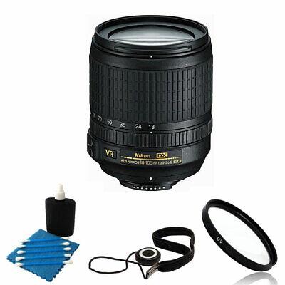 Nikon AF-S DX NIKKOR 18-105mm f/3.5-5.6G ED VR Lens + Best Value (Best Lens Filters For Nikon)