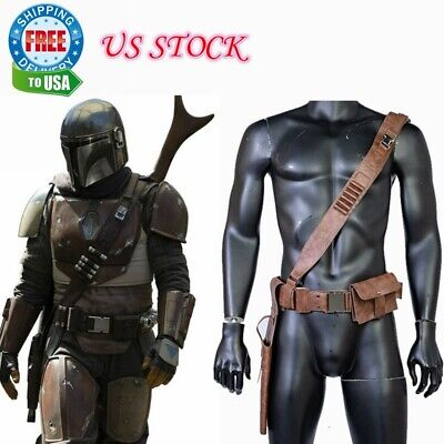 The Manda Leather Belt Cosplay Costume Prop Leg Pack Gun Package Strap New