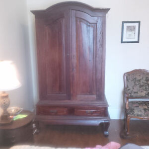 India wood armoire - wardrobe
