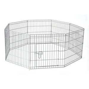91 x 61 cm 8 Panel Pet Playpen Metal Cage Fence YD008-3
