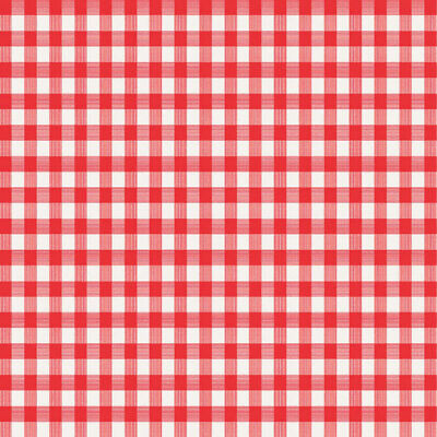 Magic Cover  Red/White Checkered  Plastic  Round Tablecloth - Red And White Checkered Plastic Tablecloth