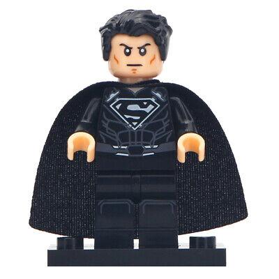 Black Superman (Dark) - Marvel Comics Lego Moc Minifigure Gift For Kids - Superman For Kids