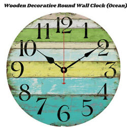 Large Indoor Outdoor Wooden Decorative Rustic Vintage Country Wall Clocks Pro!