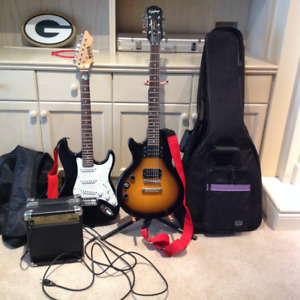 Left handed and right handed electric guitar for sale with AMP