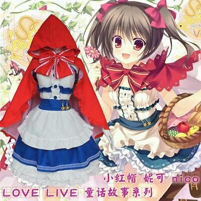 Yazawa Nico Little Red Hood Dress Anime Love Live Fairy Story Cosplay Custumes (Fairy Custumes)