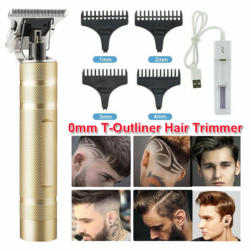 Pro Electric Hair Clippers Cordless Rechargeable T-Blade Tri