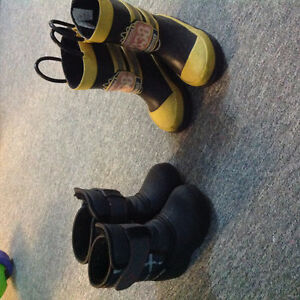Size 5 winter and rubber boots