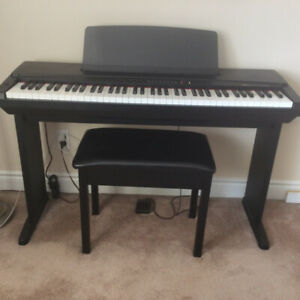 YAMAHA DIGITAL PIANO YPP-50 AWM WITH BENCH, PEDAL & HEADPHONE