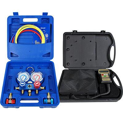 Digital Refrigerant Electronic Charging Scale For Hvac Manifold Gauge 220 Lbs