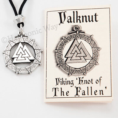 VALKNUT Viking Necklace amulet Odin Norse God Pendant bin in our store