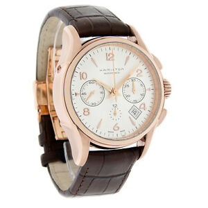 Hamilton Jazzmaster Series Mens Swiss Automatic Chronograph Watch H32646595