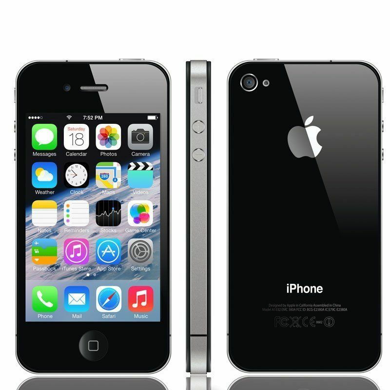NEW  APPLE IPHONE 4S 16GB  BLACK UNLOCKED SMART PHONE  (NEW AND BOXED )