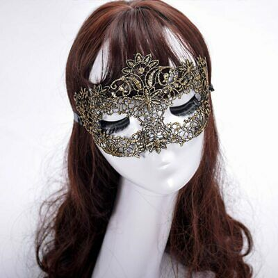 GOLD Lace Eye Mask Bondage Erotic Masquerade Party,Halloween Venetian Catwoman](Erotic Halloween Costume)
