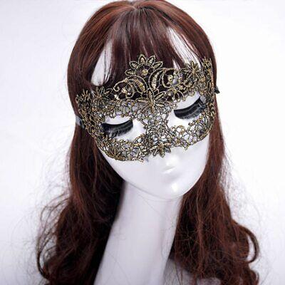 GOLD Lace Eye Mask Bondage Erotic Masquerade Party,Halloween Venetian Catwoman