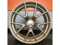 """20"""" Gold M4 CS style wheels & Hankook Tyres suitable for BMW M3 & M4"""