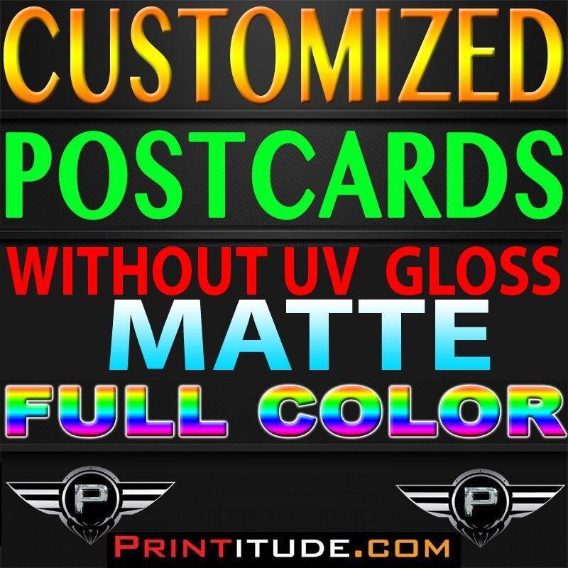 "5000 POSTCARDS 4""x6"" FULL COLOR MATTE 2 SIDED 4x6 POSTCARDS + Design"