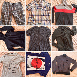 Designer and name brand mens bundle clothes incl Bench.