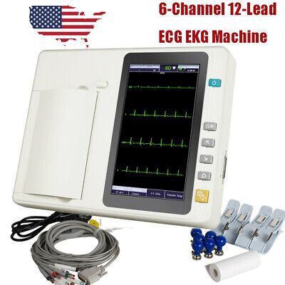 Lcd Touch Screen 6-channel Ecgekg Machine Electrocardiogram Cardiograph Analyze