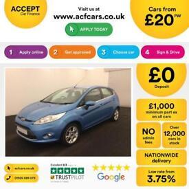 Ford Fiesta 1.0, 1.2, 1.4, Zetec Titanium BLUE, 5dr FROM £20 PER WEEK!