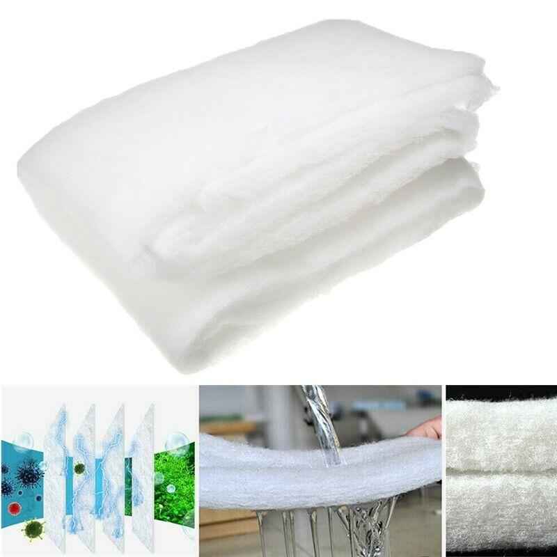 White Aquarium Filter Foam Sponge Cotton Pad Mat Media Fish
