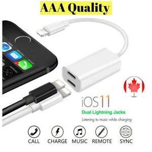 A Multi-Function Double Jack Audio Adapter iPhon7/8/X