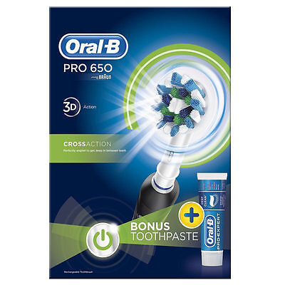 Oral-B Pro 650 Electric Toothbrush + TOOTHPASTE Oral-B Pro-Expert