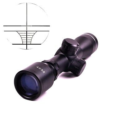 4x32 Air Riflescope - Tactical Telescope 4 x 32 Air Rifle Reticle Sight Scope with 20/11mm Ring Mount