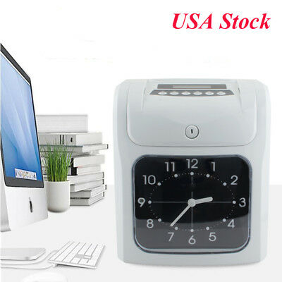 Electronic Employee Attendance Punch Time Clock Payroll Recorder Analog Clock Us