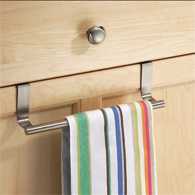 Cabinet Hanger Over Door Kitchen Towel Holder Drawer Hook Storage Bathroom  Dl