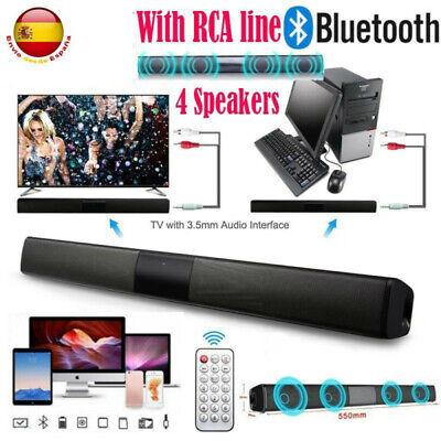 20W Bluetooth Barra de Sonido Altavoz Inalámbrico Home Theater TV HiFi