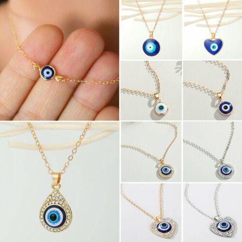 Jewellery - Turkish Lucky Evil Eye Beads Pendant Necklace Blue Eye Clavicle Women Jewelry