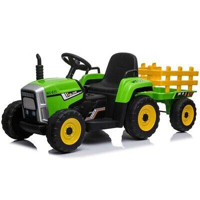 Tractor ATAA Ceres con remolque - Tractor eléctrico infantil para niños de...
