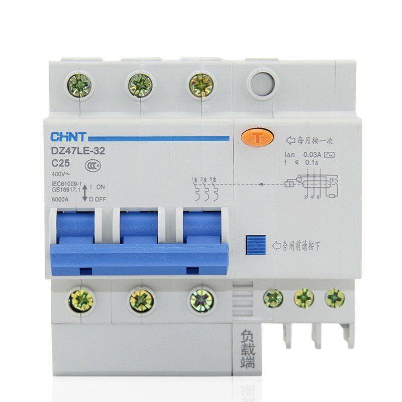 20Amp 30mA 3Pole+N RCD/RCCB  Residual Current  Circuit Breaker CHINT DZ47LE-32