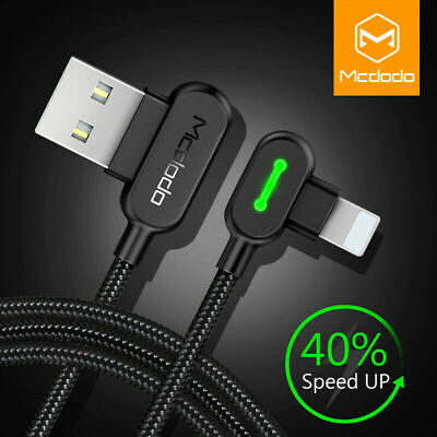 Mcdodo 90 Degree Lightning USB Charger Cable Fast Charging for iPhone X 8 7 6 5s