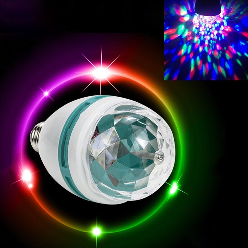 e27 rgb led party disco light leuchte b hne drehen bunte birne lampe lichteffekt eur 1 29. Black Bedroom Furniture Sets. Home Design Ideas