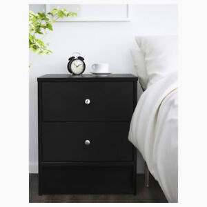 IKEA DYFJORD Nightstand, black BRAND NEW IN BOX