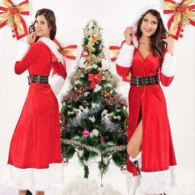 Weihnachtskostüm Weihnachtsmann Kostüm Weihnachtsfrau Weihnachten Sexy Kleid M99