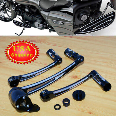 Deep Cut Brake Arm Kit Shift Lever W/ Shifter Pegs For Harley Touring 2014-2017